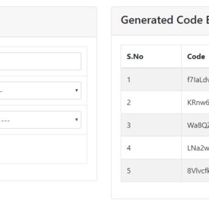 codeigniter random code generator